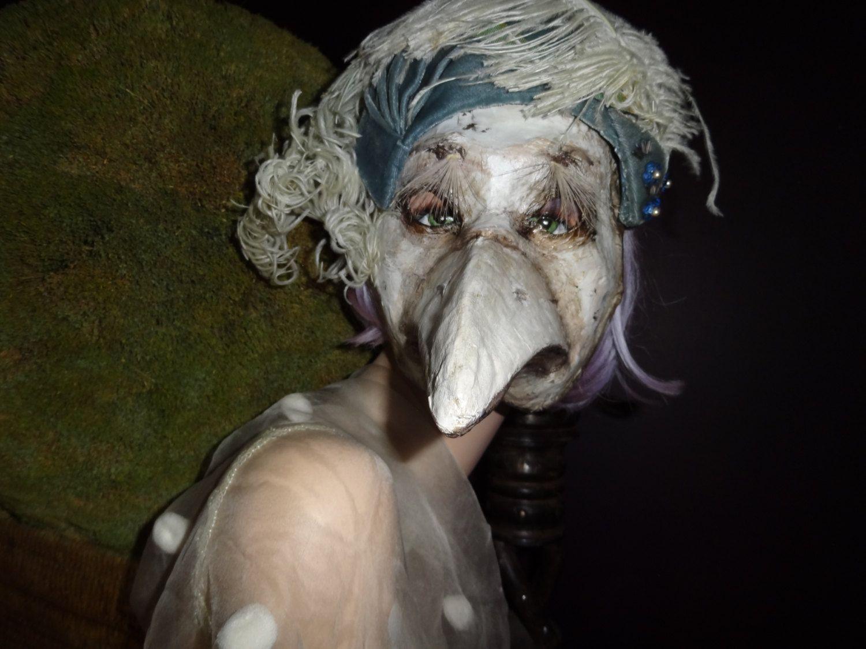 Plague+Doctor+mask+Paper+mache+bird+mask+bird+by+MiesmesaBerni,+$ ...