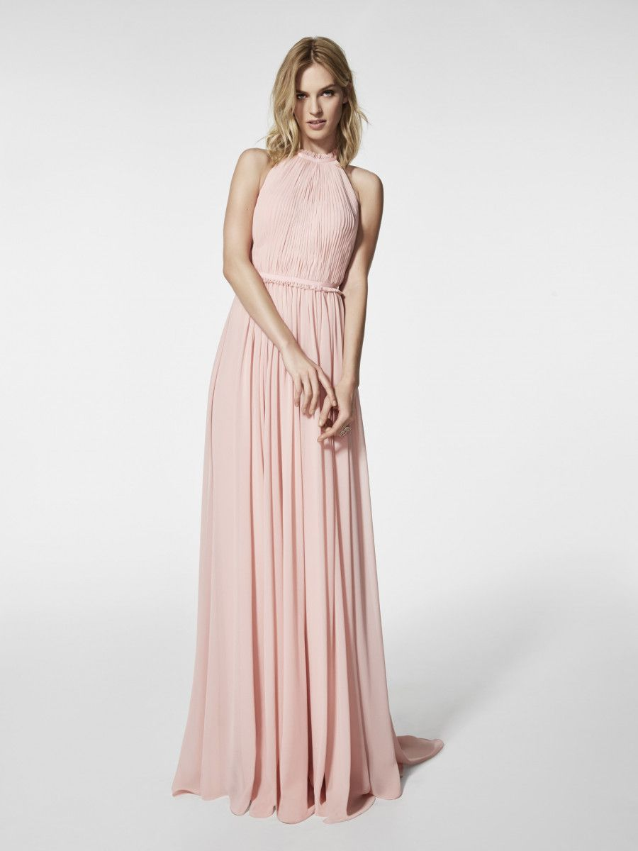 Pale pink dress for wedding guest  Pronovias Cocktail Dress  Collection Gramoe Gown Pale pink