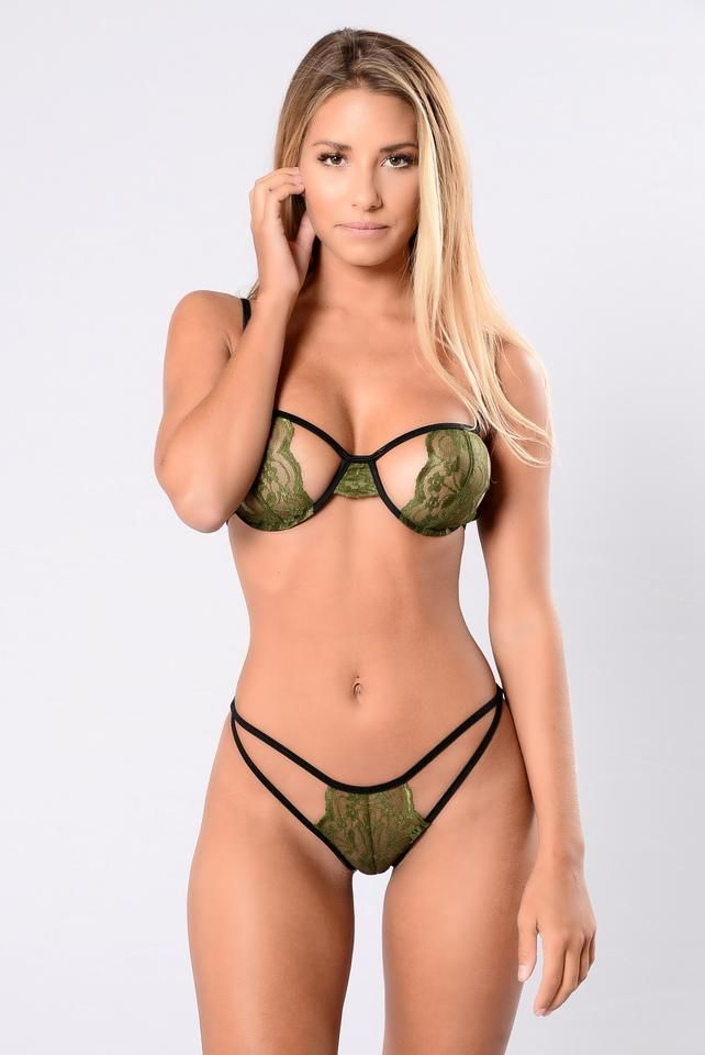 644f4b8e3c890 Peek A Boo Set - Olive/Black | Sexy Lingerie | Beautiful lingerie ...