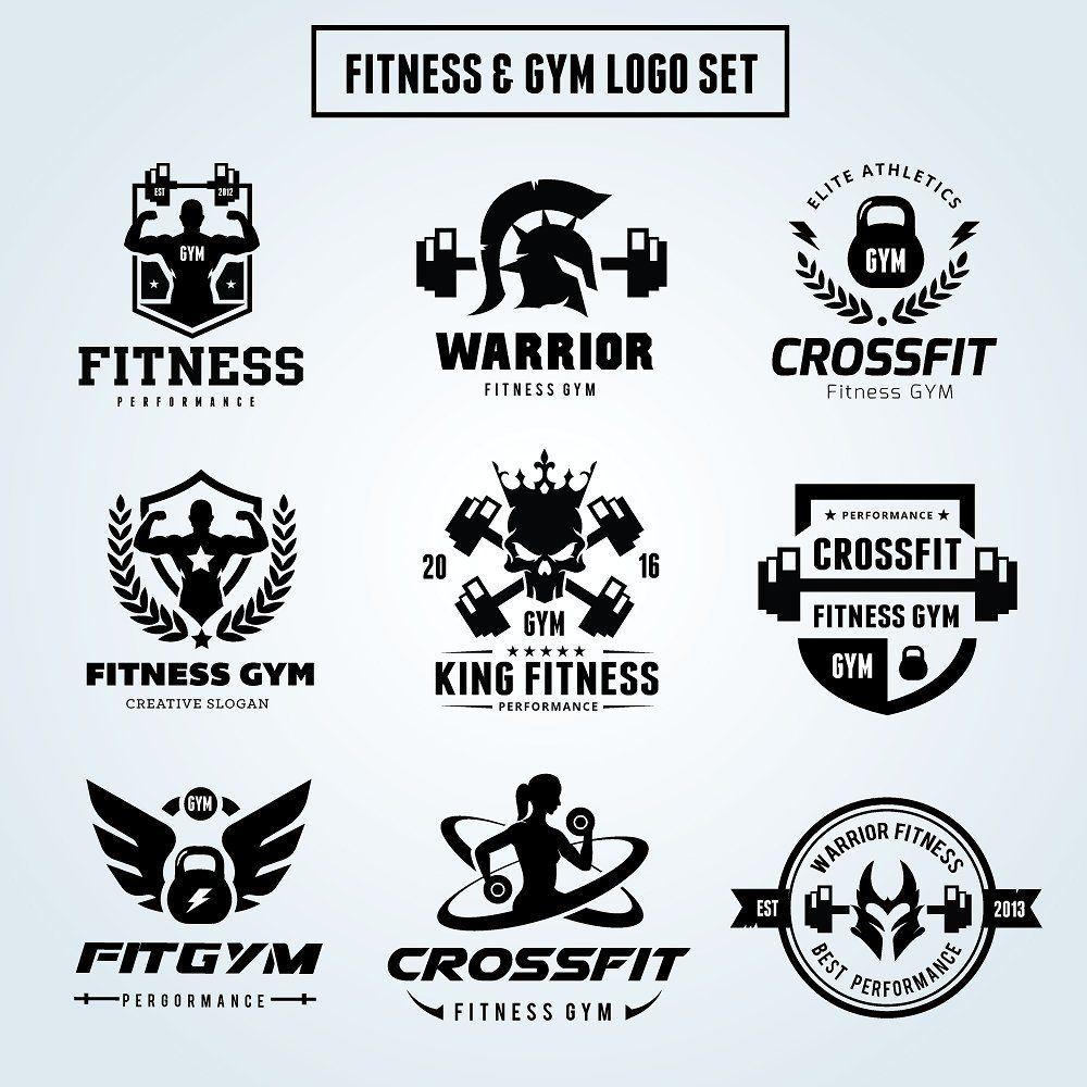 Fitness Logo Set imagens) Modelos de cartões de