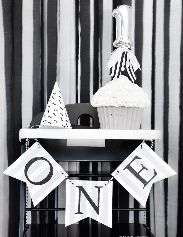 Black & White Bow Tie Themed Birthday Party