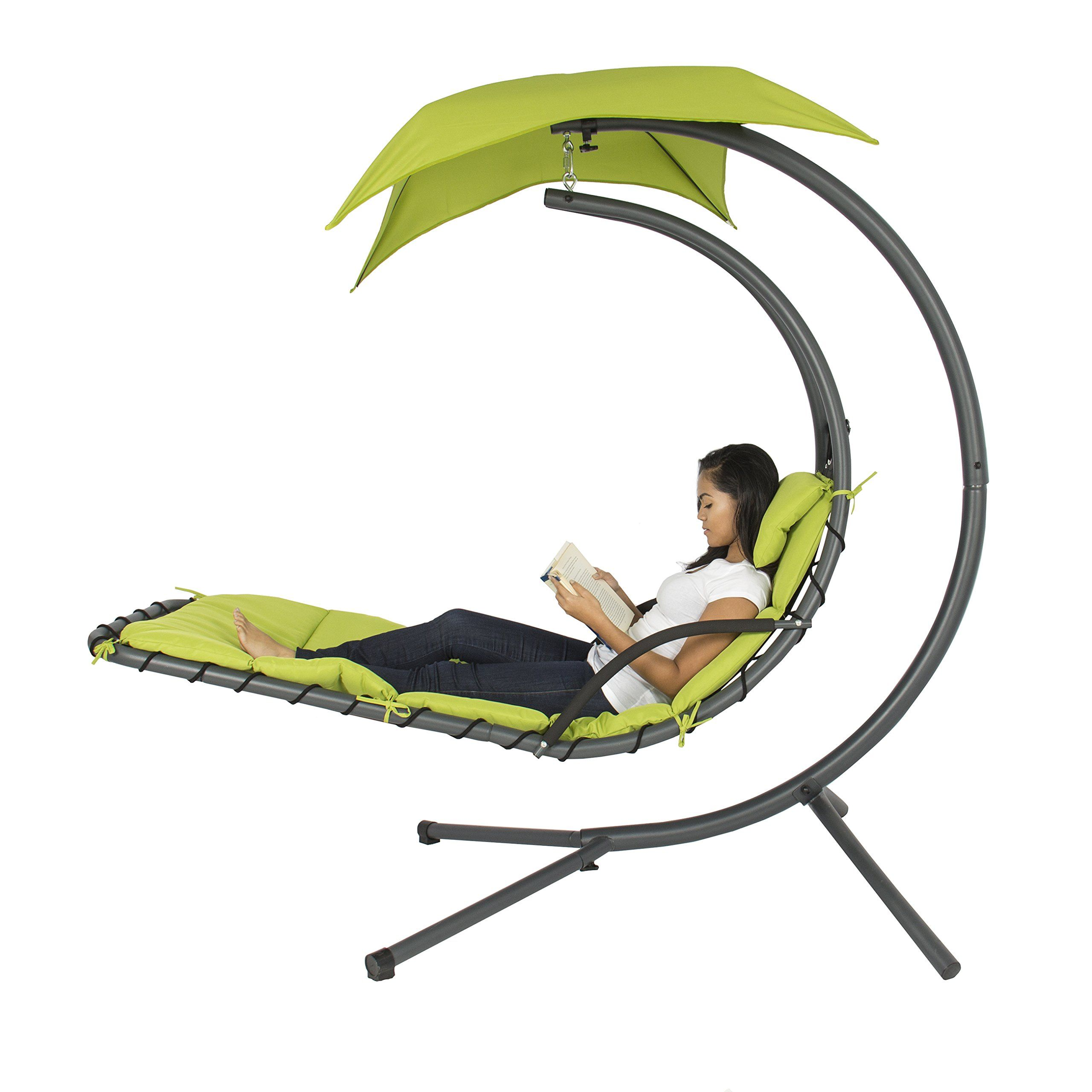 Best choice products hanging chaise lounger chair arc stand air