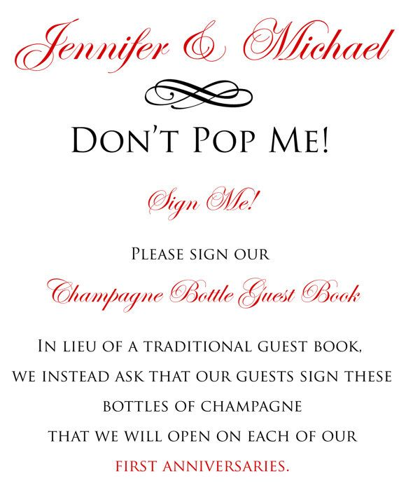 Wedding Guest Book Sign  Personalized Custom