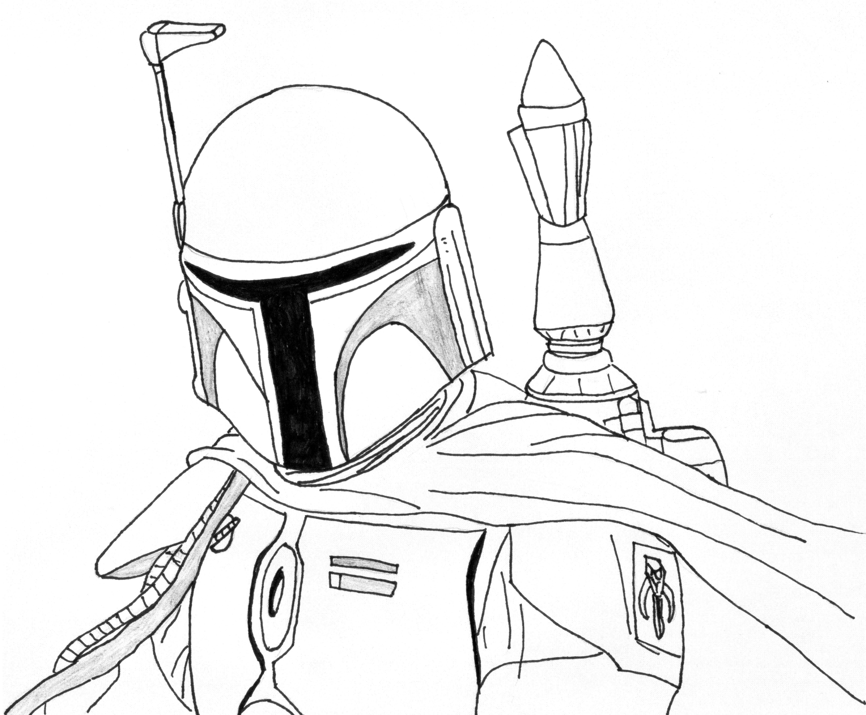 Star Wars Coloring Page Boba Fett - AZ Coloring Pages  Star wars