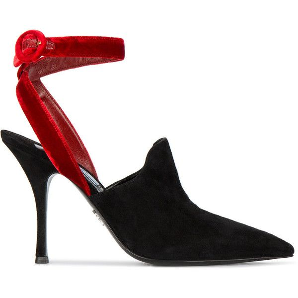 ankle strap pointed pumps - Black Prada W9GpBi