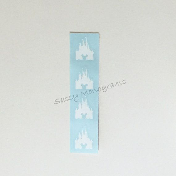 Magic Band Castle Mickey Vinyl Decal Quick To Ship Magic Bands - Magic band vinyl decals