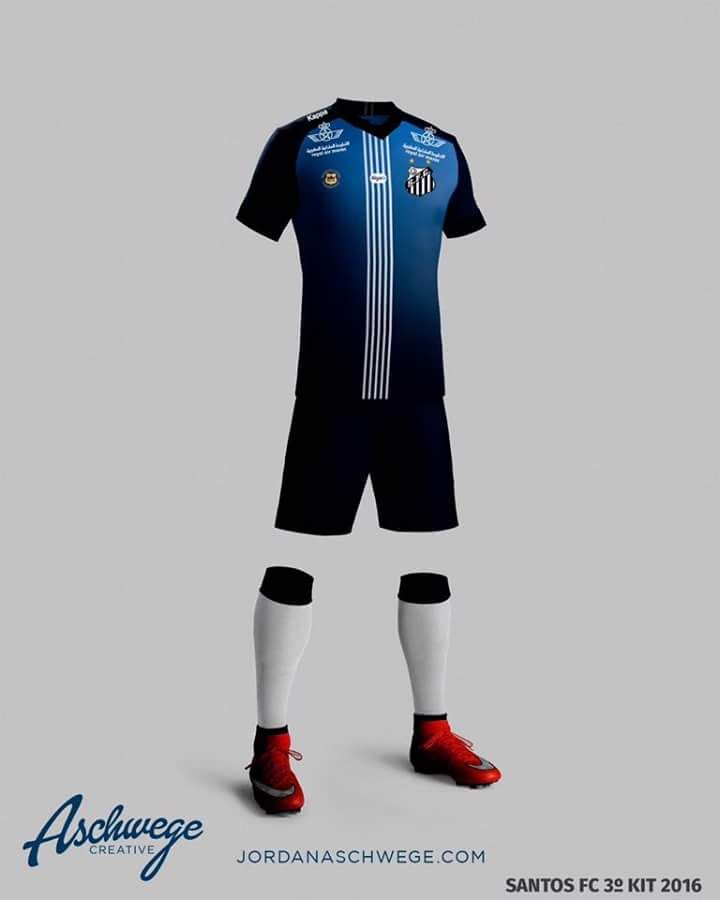 a892f33262 Terceira camisa do Santos FC 2016-2017 Azul