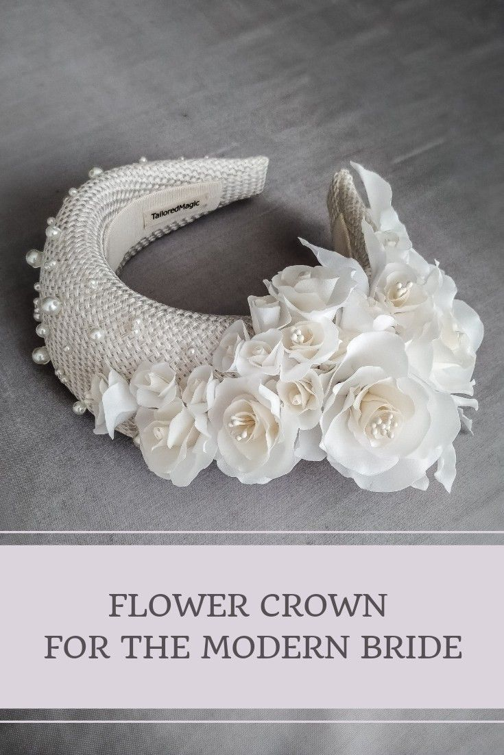 Photo of Bridal flower crown by TailoredMagic, free shipping worldwide. Bridal headband
