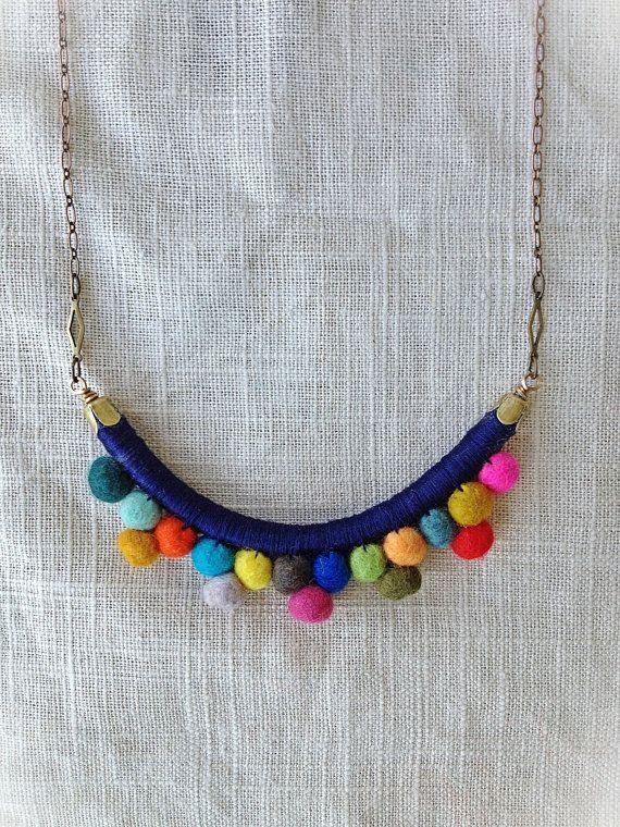 Art to wear necklace Bold textile choker necklace Bead embroidered textile collar
