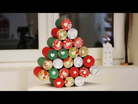 Advent calendar in paper rolls DIY