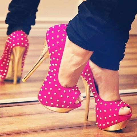 1000  images about Pink shoes on Pinterest | 7 inch heels Pump