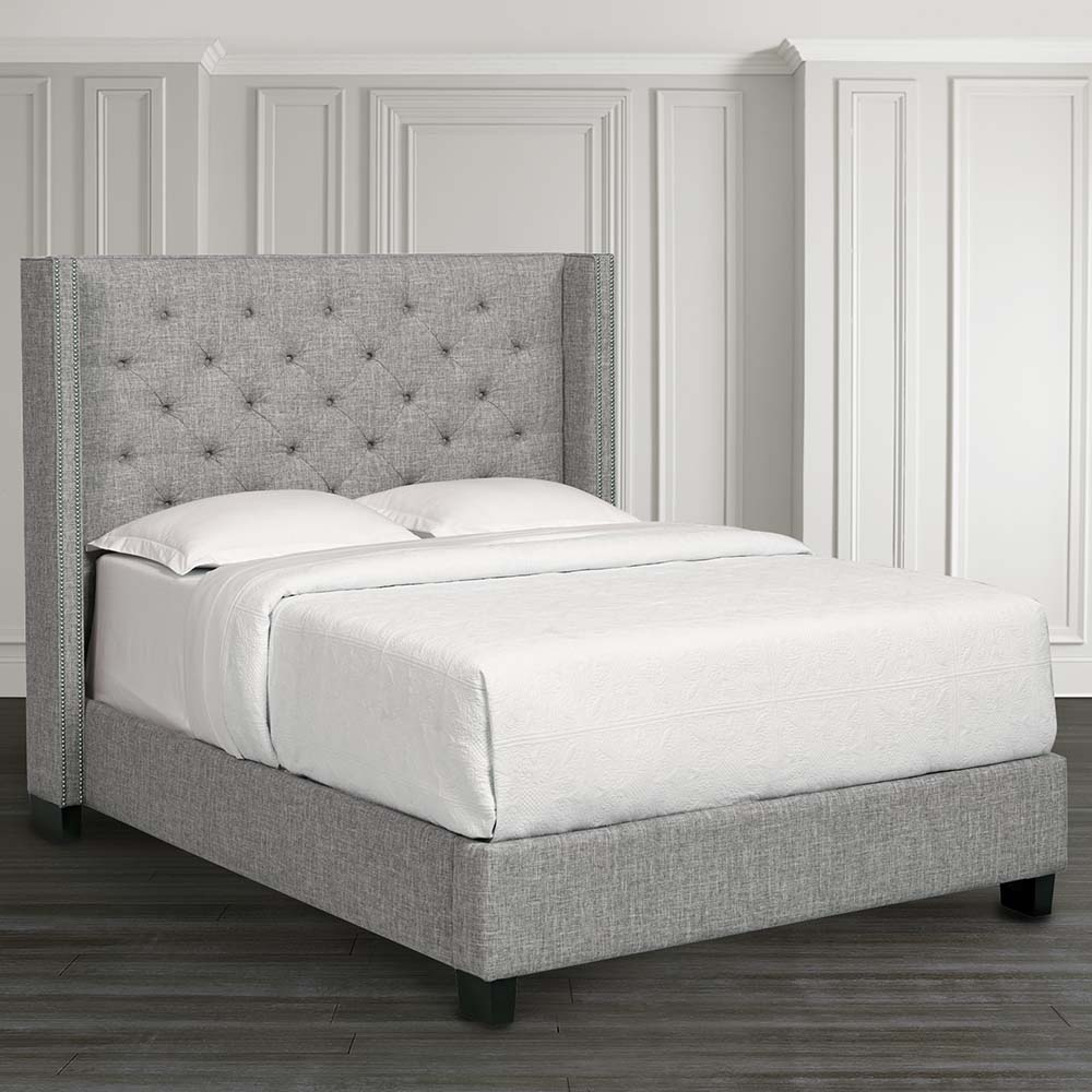 Bassett Furniture Utah: Custom Uph Beds Dublin Winged Bed