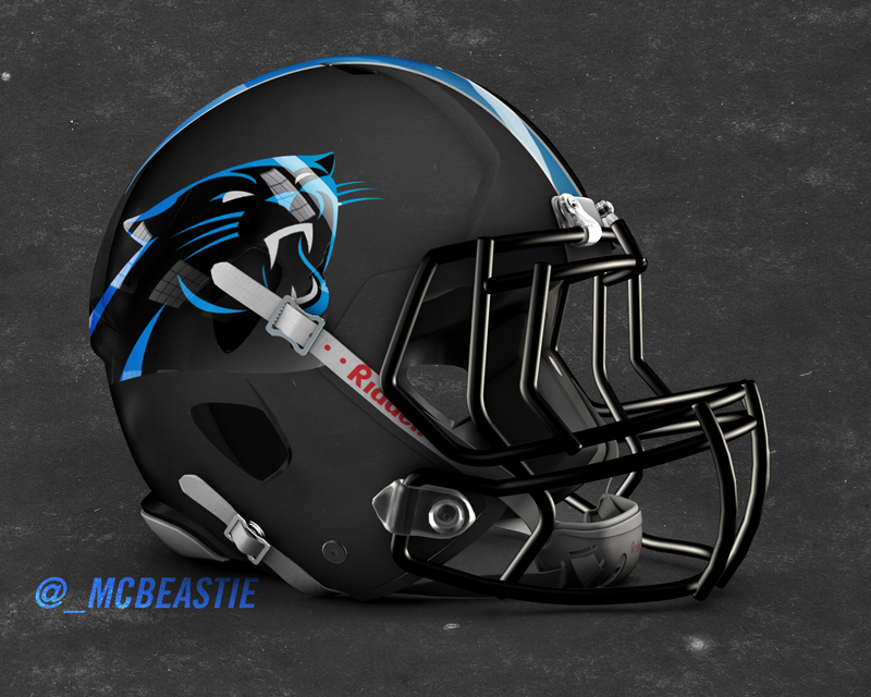 Mcbeastie Tweeted The Panthers A Black Matte Hydrochrome Helmet Concept They Ll Ignor Carolina Panthers Helmet Panthers Football Carolina Panthers Wallpaper