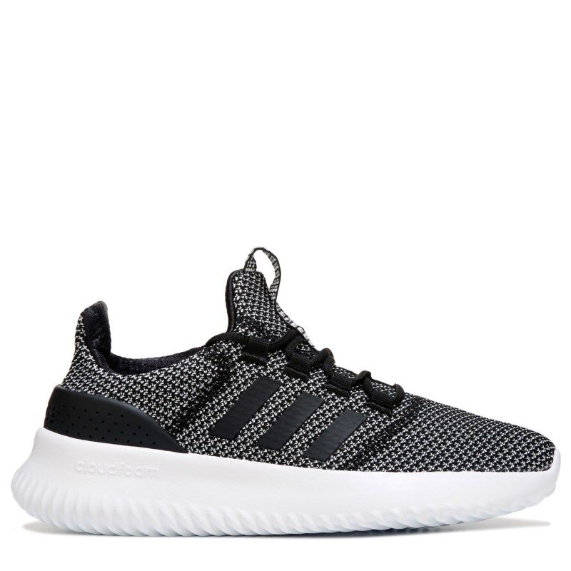 c9c8314d86f9b1 Adidas Kids  Cloudfoam Ultimate K Running Shoe Pre Grade School Shoes  (Black White)
