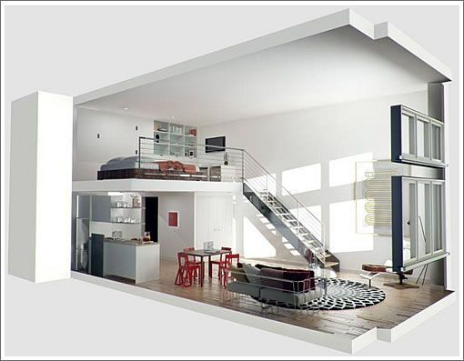 R sultat de recherche d 39 images pour plan 3d loft for Studio loft apartment floor plans