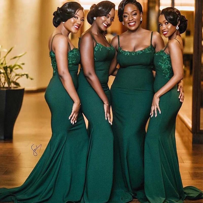 Mermaid Dark Green Mermaid Bridesmaid Dresses In 2020 Dark Green Bridesmaid Dress Emerald Green Bridesmaid Dresses Mermaid Bridesmaid Dresses