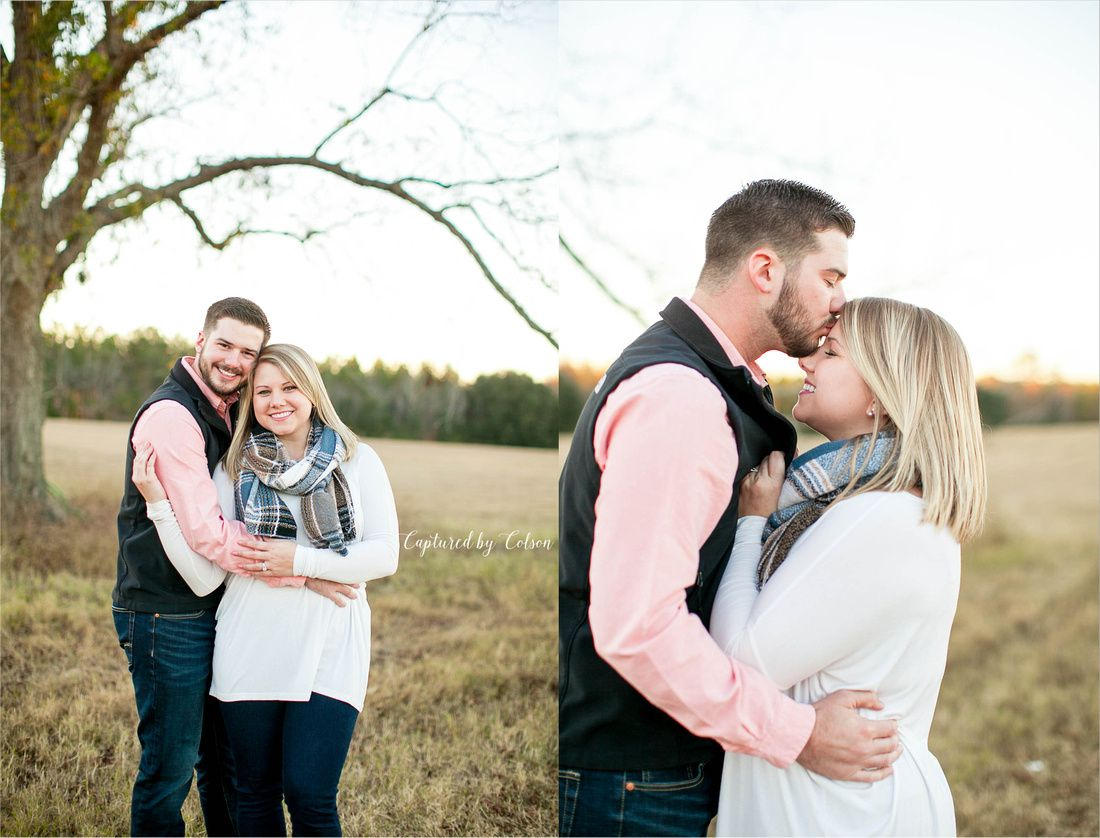 Farm engagement session | Fall engagement session | Valdosta, Georgia wedding photographer | Captured by Colson Photography
