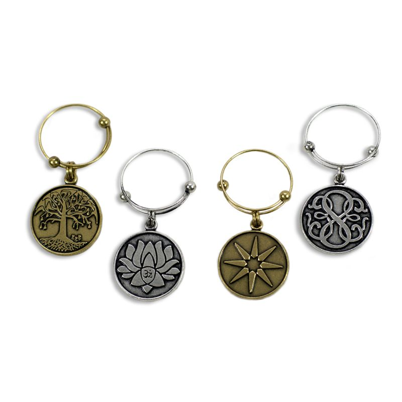 Illumination Wine Charms - Set of 4, Mixed Metal