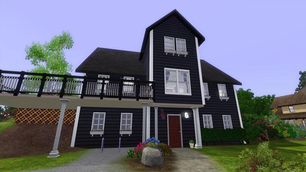 White house with black trim house colours pinterest black trim house colors and house - Black house with white trim ...