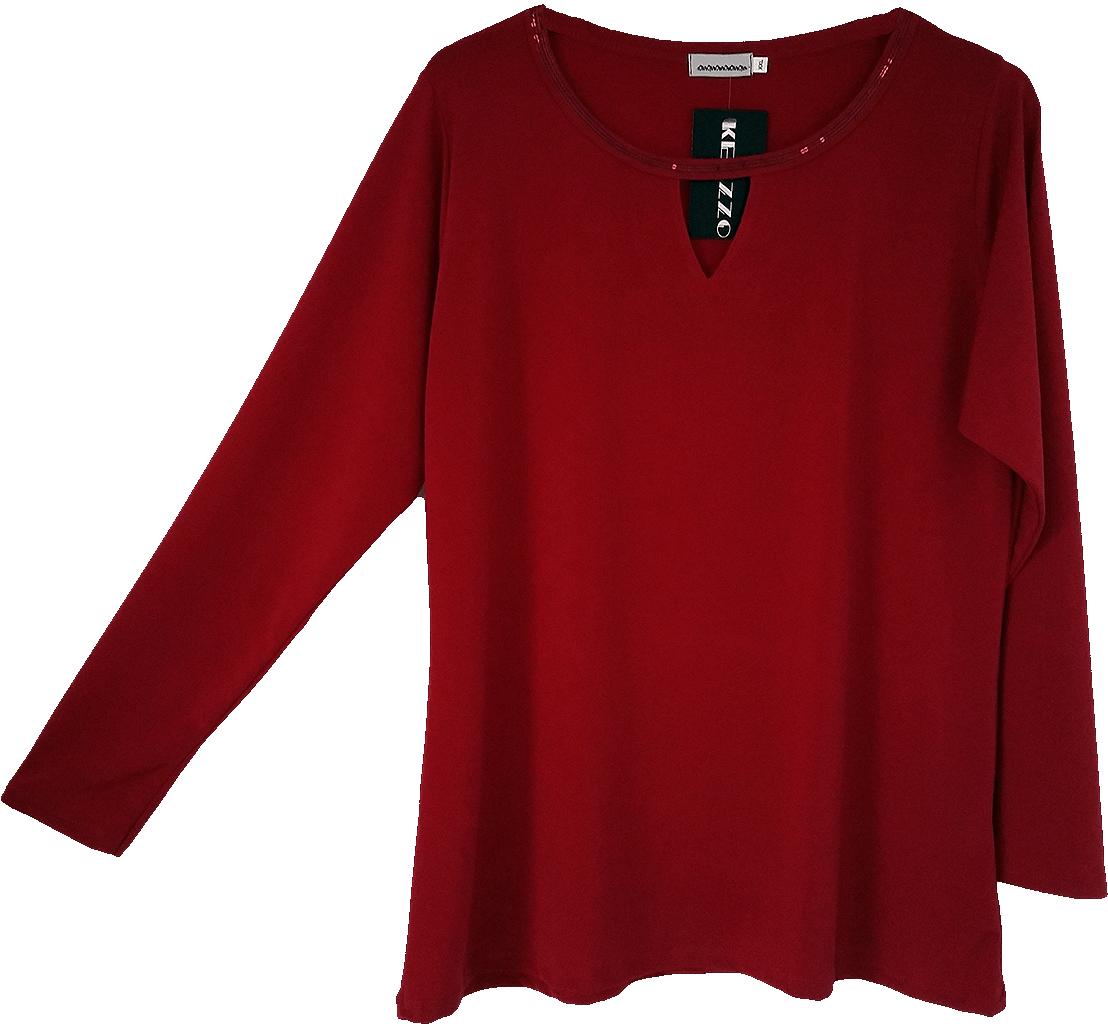 Camiseta con detalle de lentejuelas colores blanco, negro y granate. Tallas desde la L hasta la XXXL.