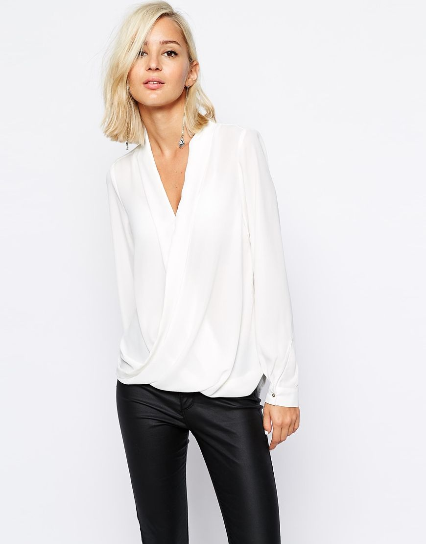72752f4d92b254 River Island Wrap Front Blouse | My Style | Fashion, Fashion ...