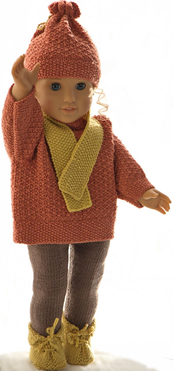 Knitting patterns for american girl doll sweater | Doll-knitting ...