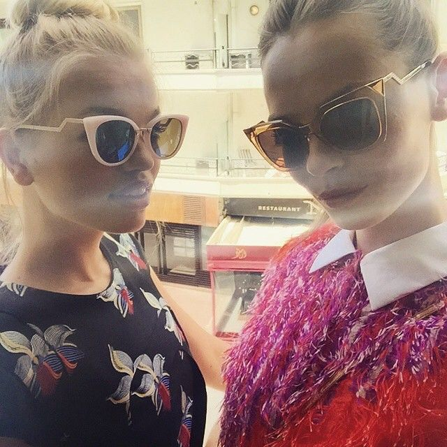 Models Daphne Groeneveld and Mina Cvetkovic looking fabulous behind their #Fendi shades in #Cannes. #regram