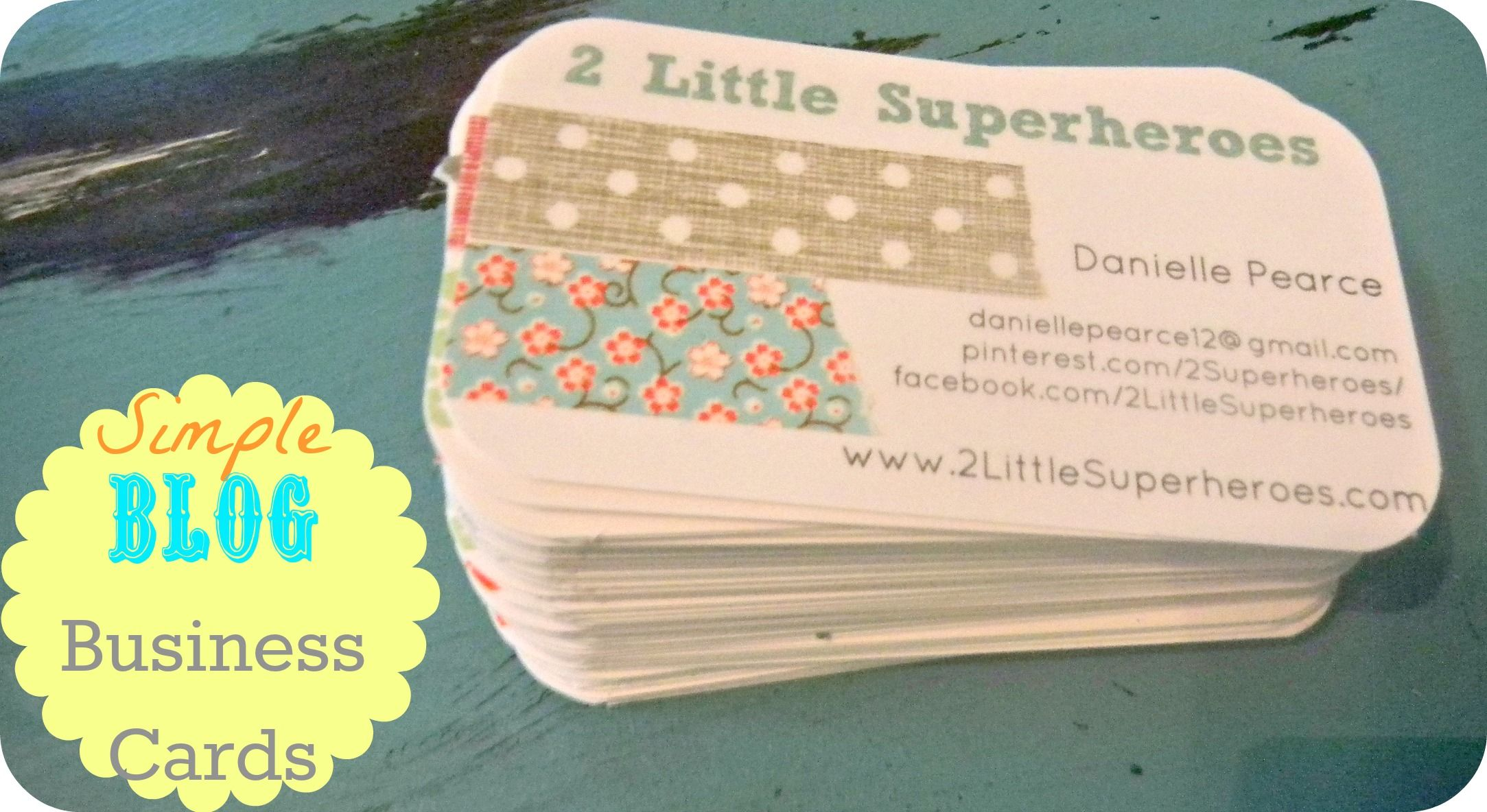 DIY business cards, made using washi tape! | Blogging | Pinterest ...