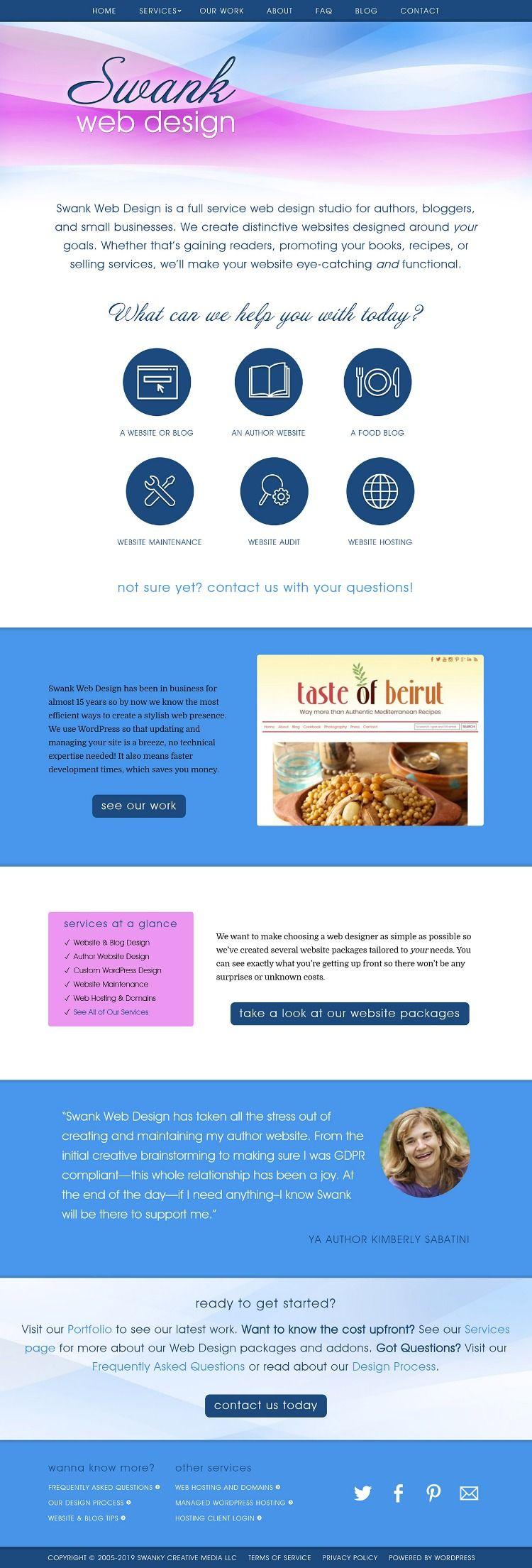 Welcome To Web Design Food Blog Design