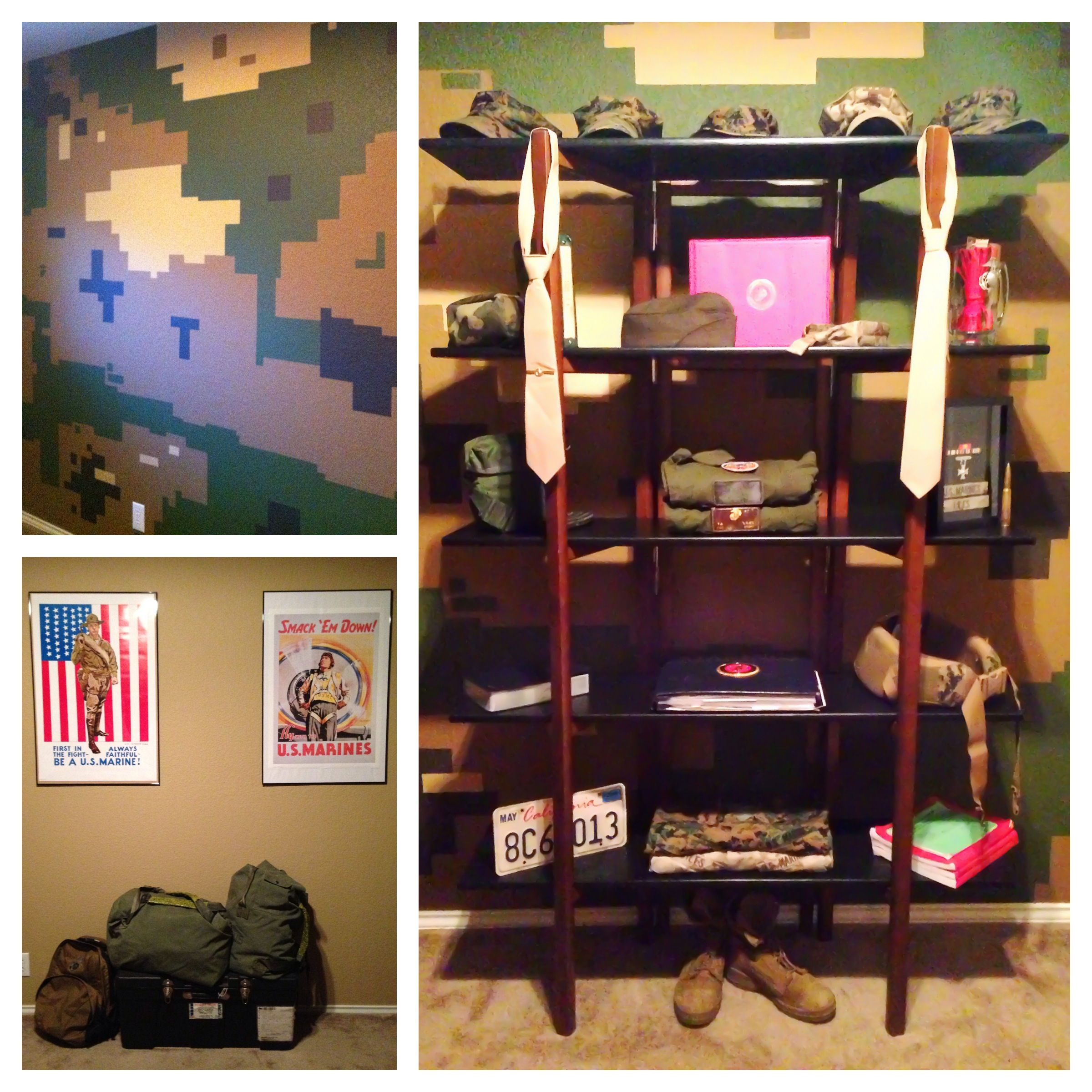 Man Cave Bedroom: Marine Corps, Man Cave, Office, Bedroom