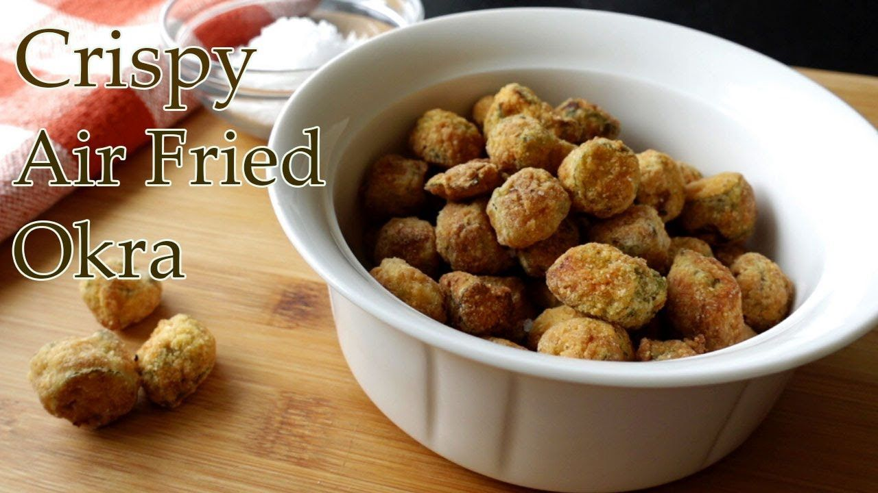 Air Fryer breaded Okra Recipe Easy, Crispy Okra In The
