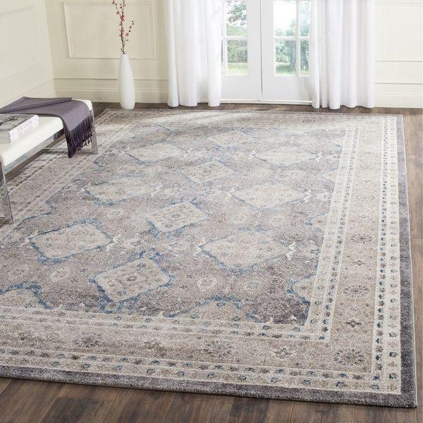 Safavieh Sofia Vintage Diamond Light Grey Beige Distressed Area Rug 10 X 14