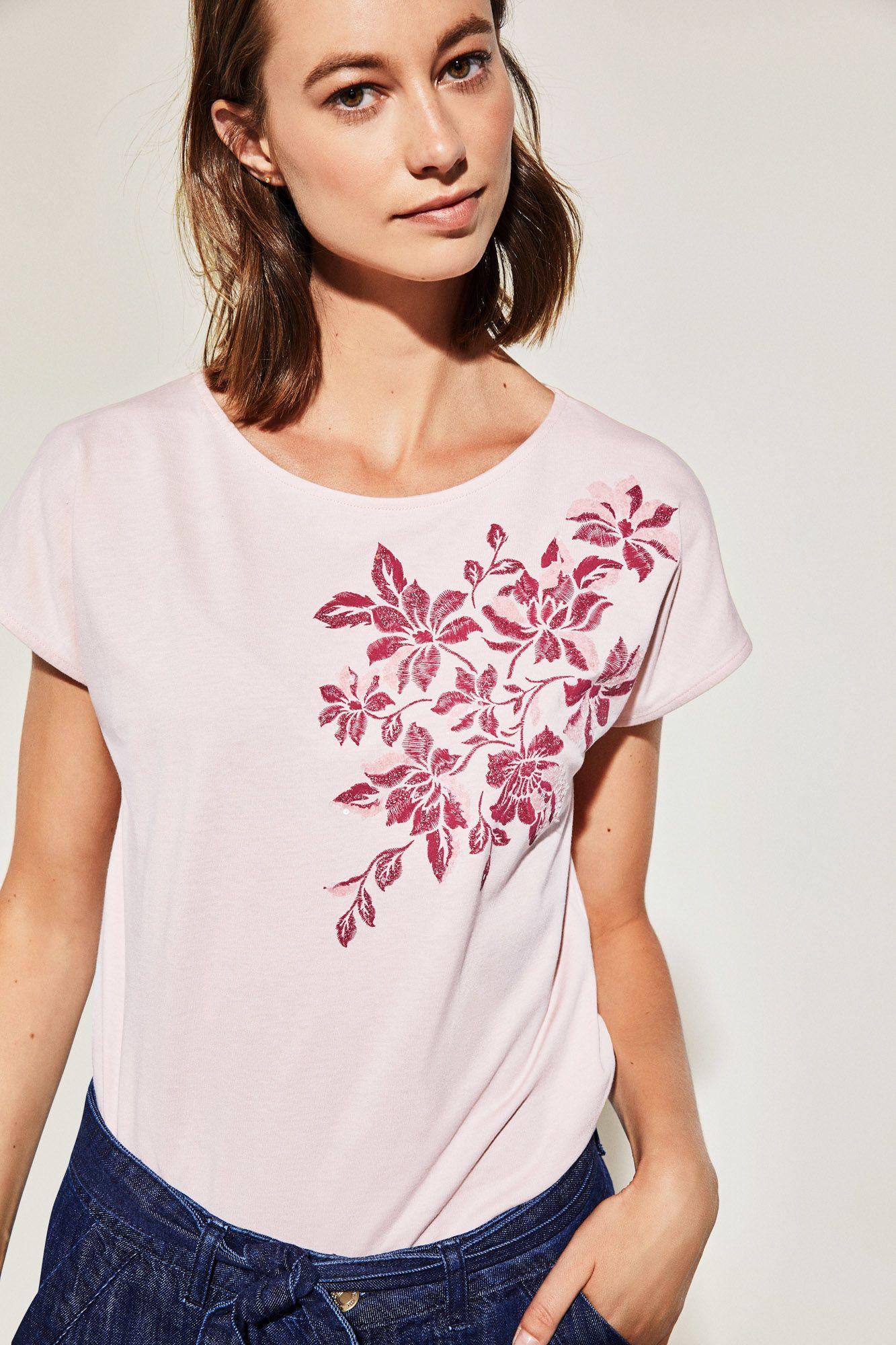 Cortefiel Camisas Bordadas Moda De Punto Camisetas Gráficas