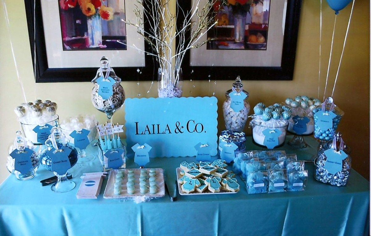 Blue Candy Buffets Baby Shower Candy Baby Shower Candy Table Baby Shower Dessert Table