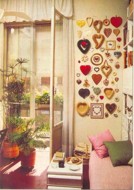 Pretty wall of hearts! Always room for another collection! Just go ...