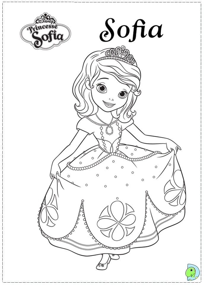 Sophia The First Coloring Page : sophia, first, coloring, Sofia, First, Coloring, Page-, DinoKids.org, Disney, Princess, Pages,, Books