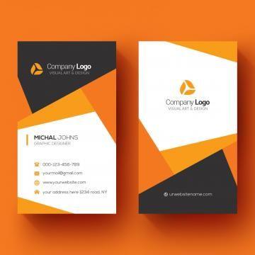 Vertical Business Card Orange Logo Business Card Business Abstract Card Template Vertical Business Cards Modern Business Cards Business Cards Collection