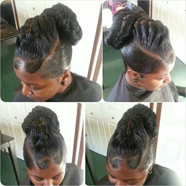 Under Hand Lift Braid Black Women Updo Hairstyles Black Hair Updo Hairstyles Braids With Curls