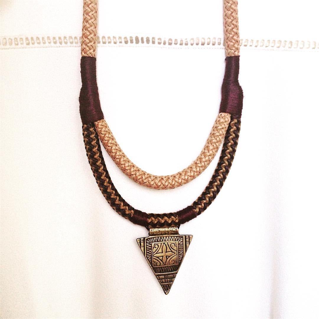 Extremamente Colar Corda Rústico #moda #colarcorda #colar | colares femininos  QY28