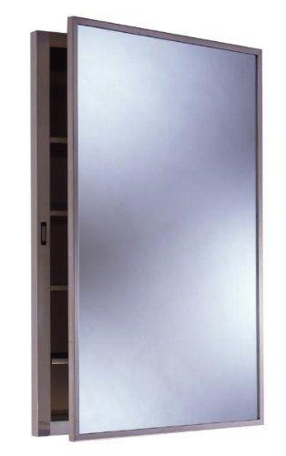 Bobrick 398 304 Stainless Steel Recessed Medicine Cabinet Satin Finish 14 7 8