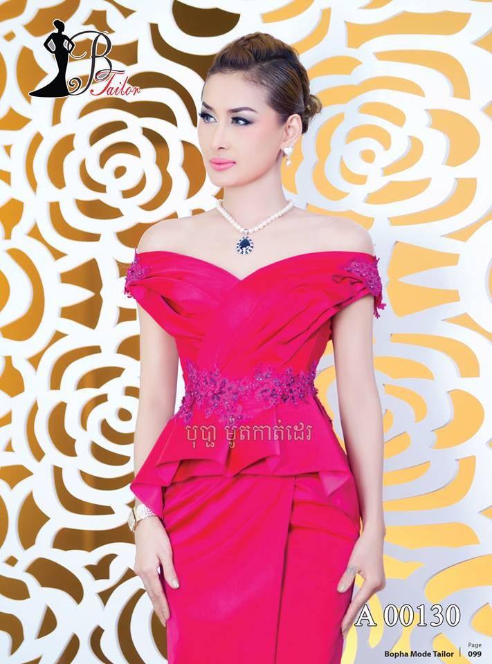 Fantástico Vestido De Dama Khmer Para La Fiesta De La Boda Ideas ...