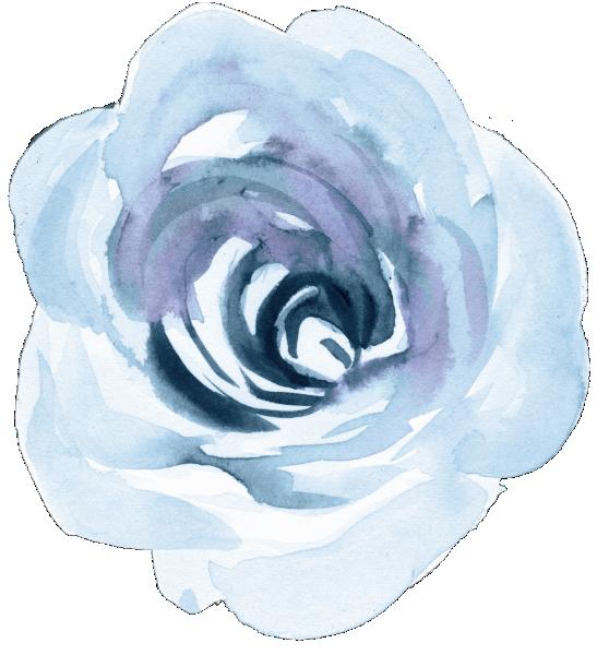 Invitación Boda botánica azul polvorienta elegante