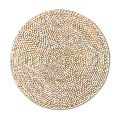White Woven Hapao Round Placemat Placemats Woven Charger Woven Placemats