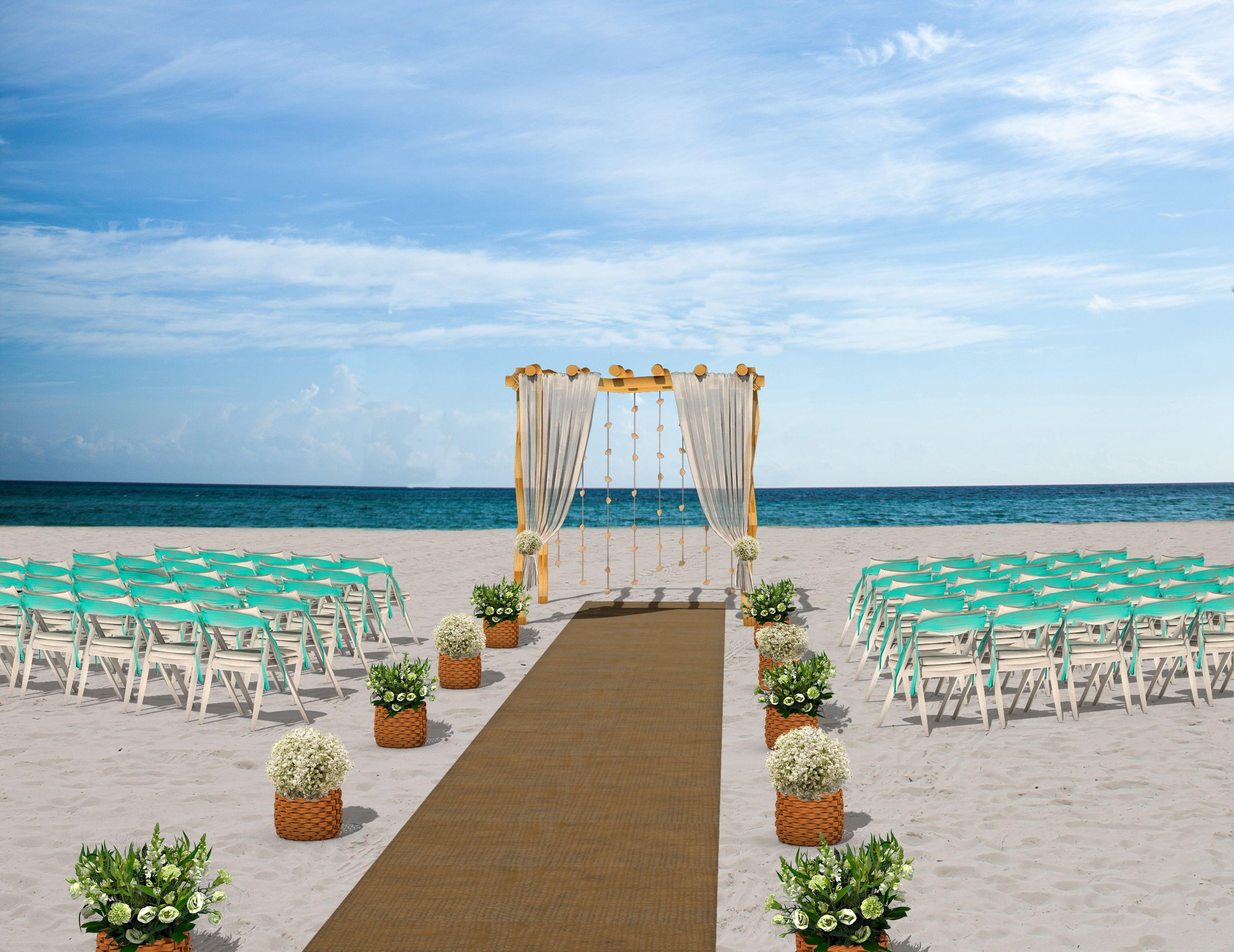 Gazebo beach wedding