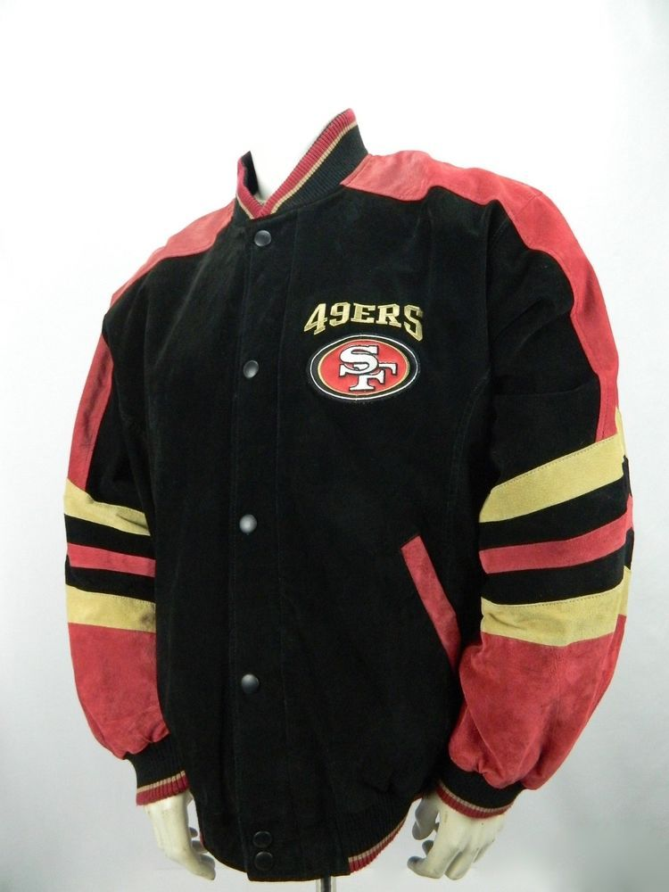 best website ed05b d2b05 NFL San Francisco 49ers GIII Large Suede Leather Varsity ...