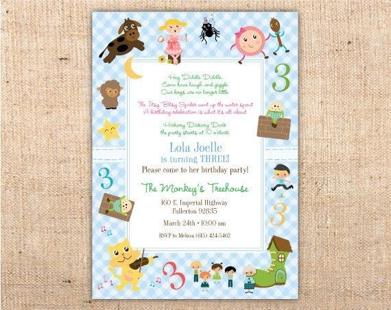 Nursery rhyme baby shower invitations mother goose nursery rhymes nursery rhyme baby shower invitations mother goose nursery rhymes customizable baby shower party invitation filmwisefo Images