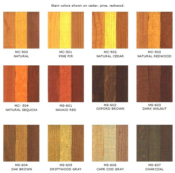 Stained Colours On Cedar Redwood And Pine Staining Cedar Wood Cedar Stain Staining Pine Wood