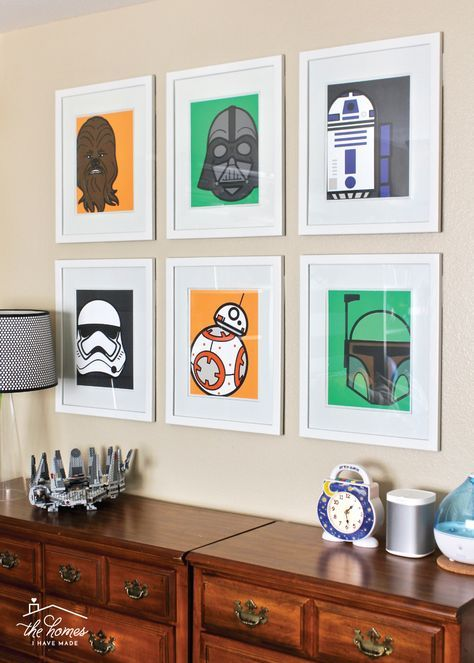 DIY Star Wars Artwork with a Cricut Explore images
