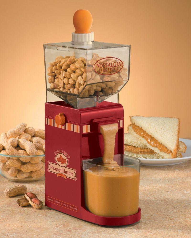 Küchendesign küchengarten new peanut butter maker nut grinder nostalgia electrics nbm
