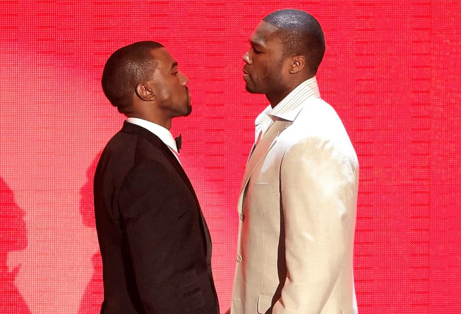 50 Cent Clashe Kanye West Ce Garcon Est Vraiment Handicape Kanye West Kardashian Hip Hop